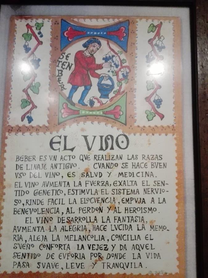 legend av vinet arkivbild