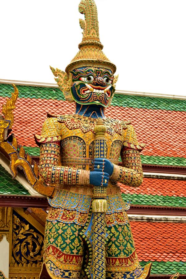 The legend giant stands in the Wat phra kaew, Bangkok Thailand. The legend giant stands in front of the Wat phra kaew, Bangkok Thailand royalty free stock image