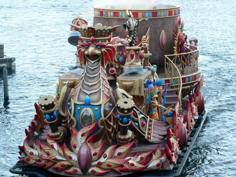 Legend Mythica Show vid Tokyo Disney Sea Mediterranean Harbour royaltyfria bilder