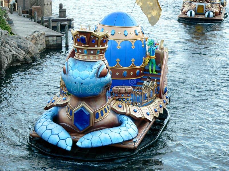 Legend Mythica Show vid Tokyo Disney Sea Mediterranean Harbour arkivfoto
