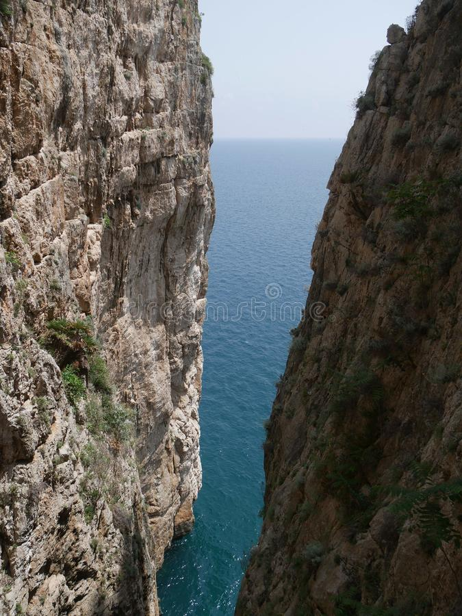 Gaeta - fractured mountain stock photos