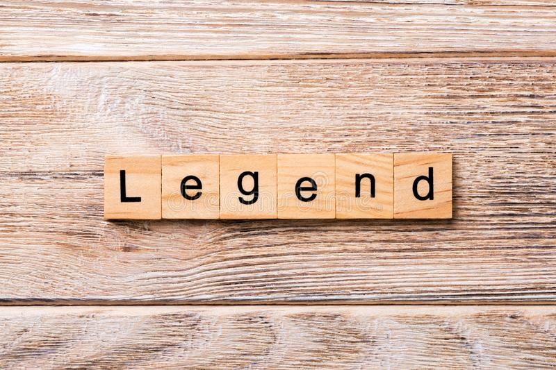 Legend word written on wood block. legend text on wooden table for your desing, concept.  royalty free stock photos
