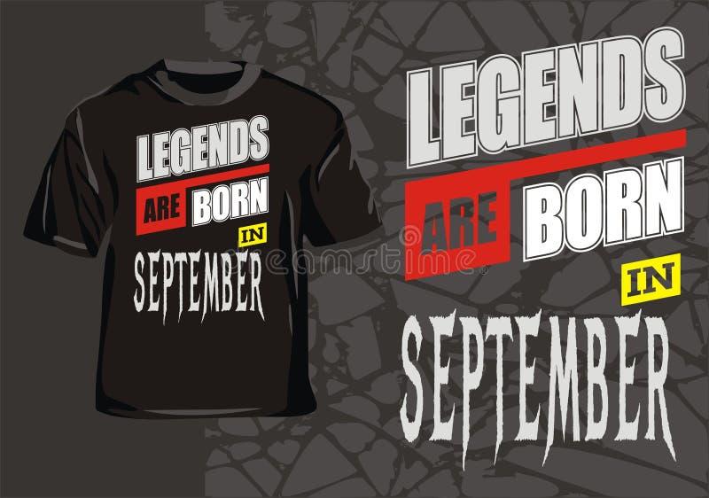 A legenda é nascida em setembro ilustração royalty free