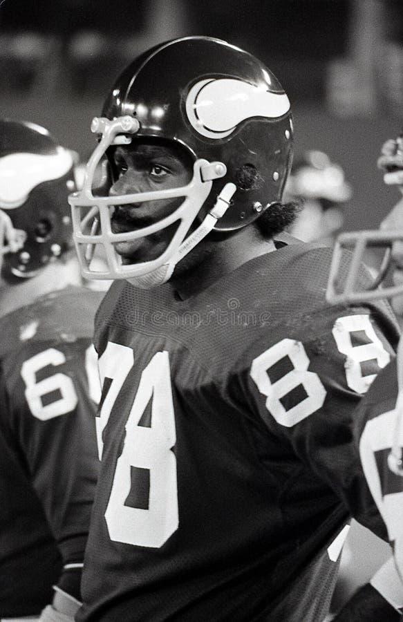 Legenda Alan Page dos Minnesota Vikings fotografia de stock royalty free