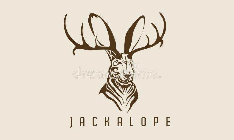 Legenda animal místico do jackalope do coelho ilustração stock