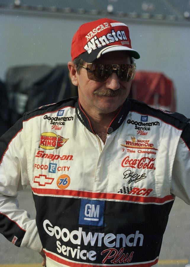 Legenda Dale Earnhardt de NASCAR fotografia de stock