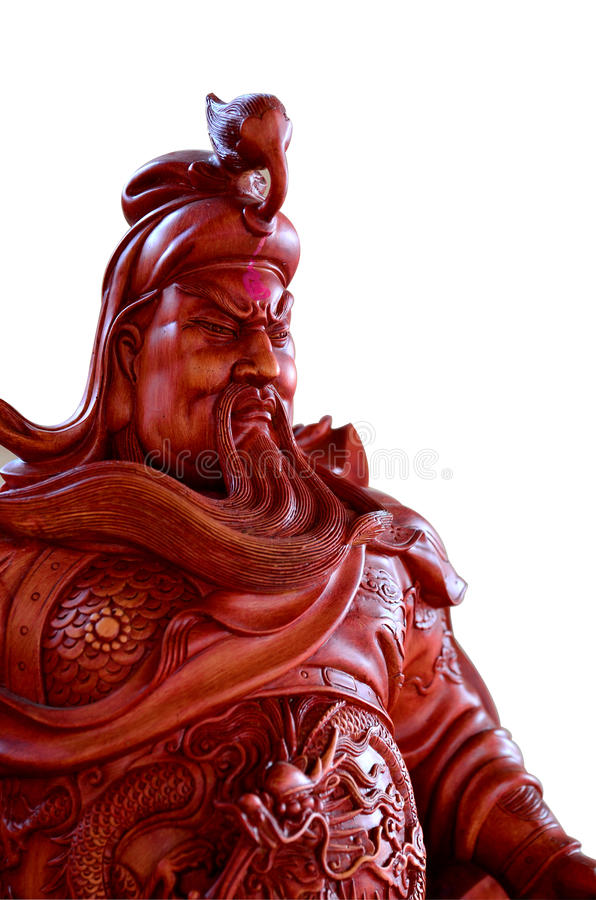 Legenda do herói de Guan Yu do chinês foto de stock