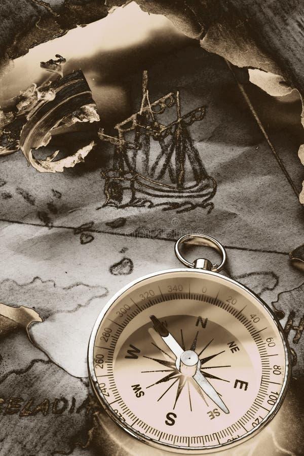 Legenda sobre o triângulo de Bermuda ilustração stock