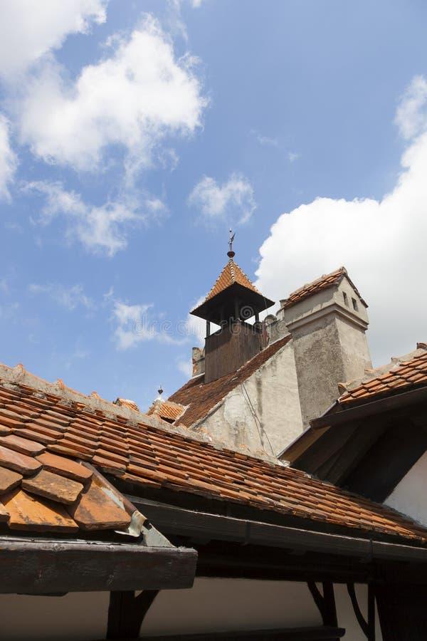 Legendarisch Kasteel, Dracula-Woonplaats in Transsylvanië, Roemenië stock foto
