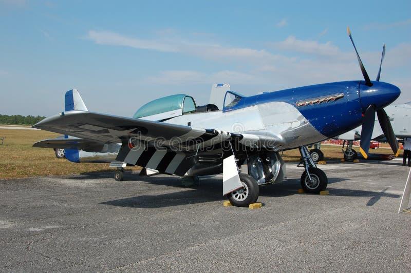 Legendarische Mustang p-51 vechter stock afbeelding