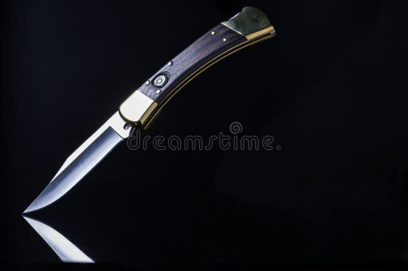 Legendarisk amerikansk kniv Den populäraste kniven royaltyfria bilder