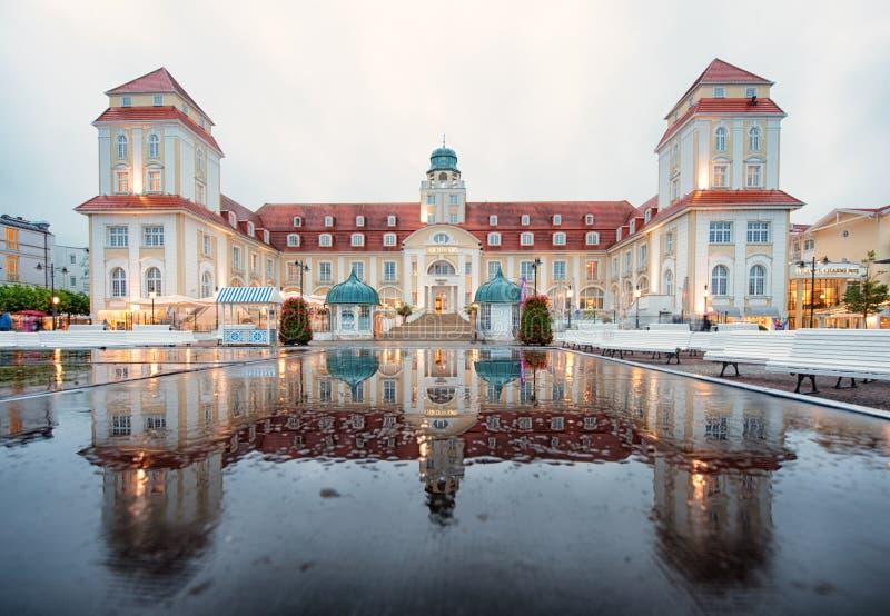 Legendariska Kurhaus Binz, Ruegen ö arkivfoton