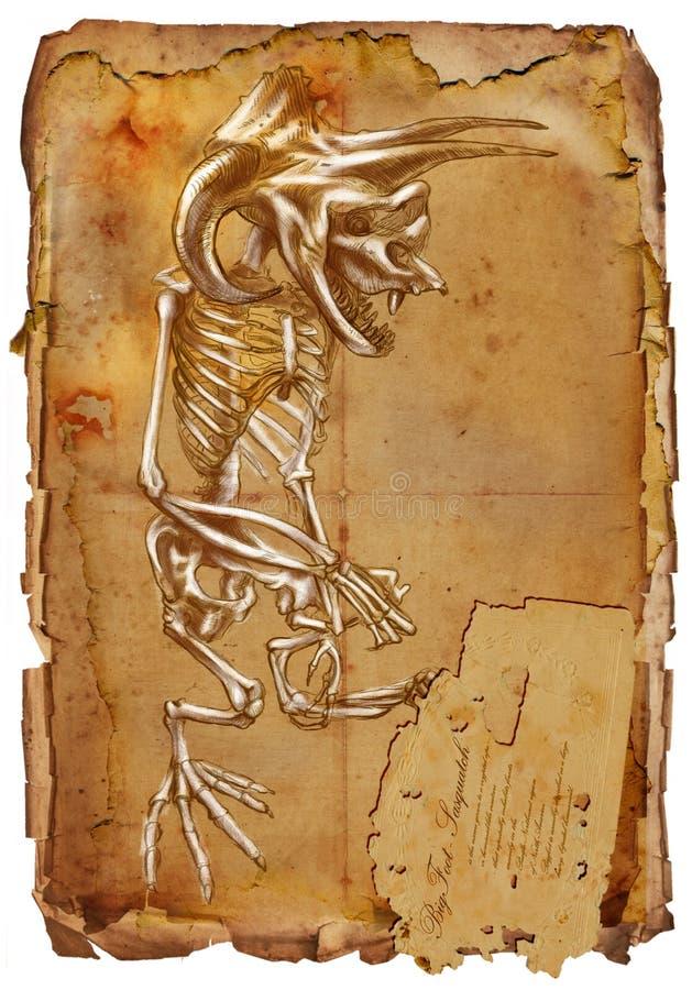 Legendarni zwierzęta i potwory: BIGFOOT royalty ilustracja