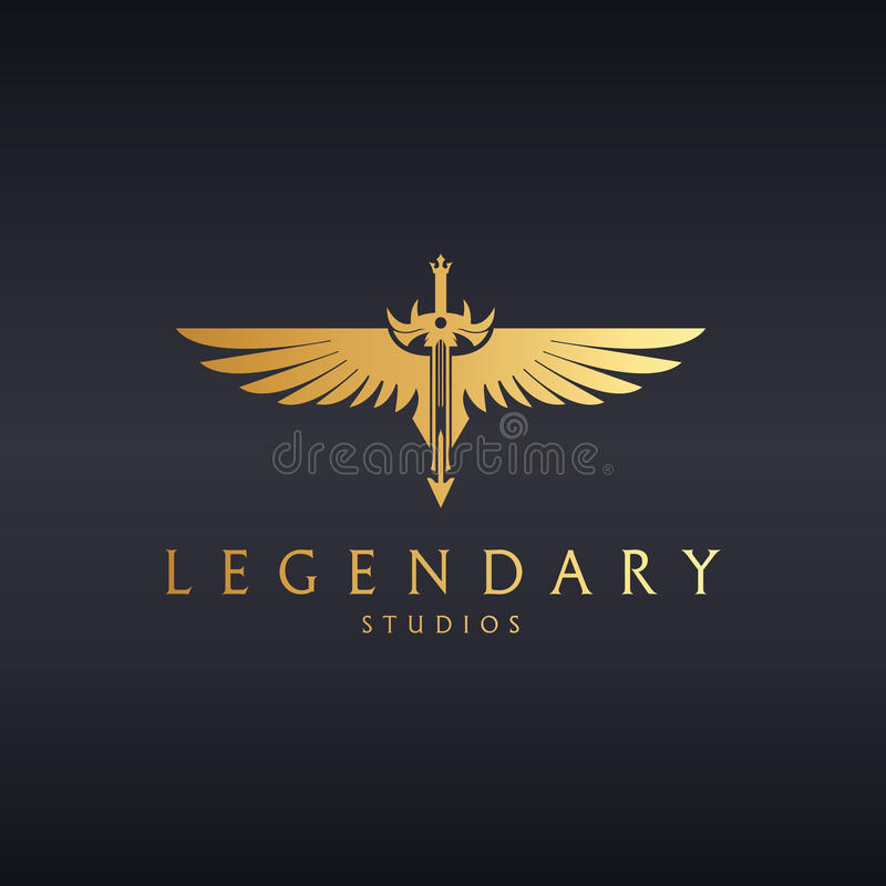 legendarny Kordzika logo ilustracja wektor