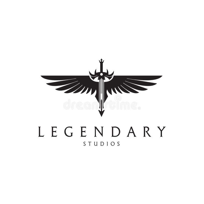 legendarny Kordzika logo royalty ilustracja