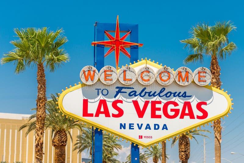 Legendarny znak powitalny bajecznie Las Vegas fotografia royalty free