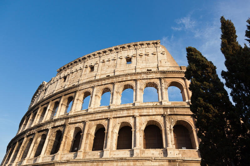 Roma, Colosseo. The legendary ancient Colosseo or Colosseum, Roma, Italy stock photo