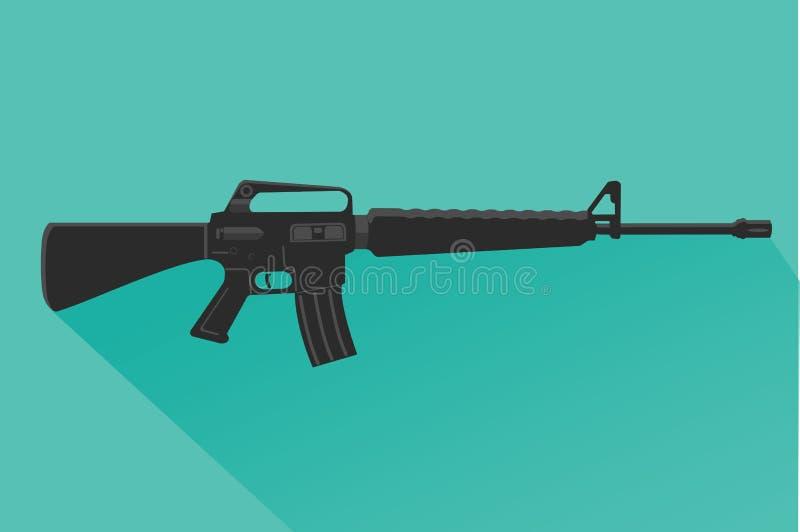 Legendary assault rifle vector illustration flat design. vector illustration