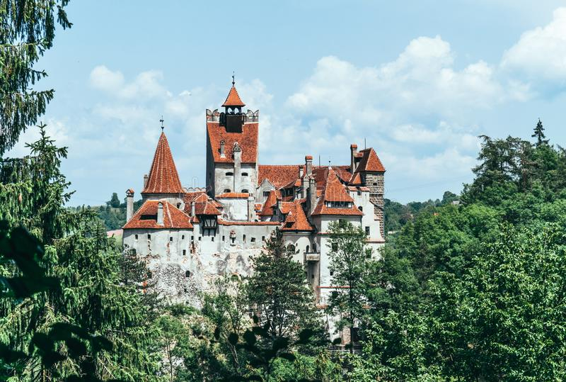 Legendary Bran Castle, Dracula Residence. Transylvania, Romania stock photography