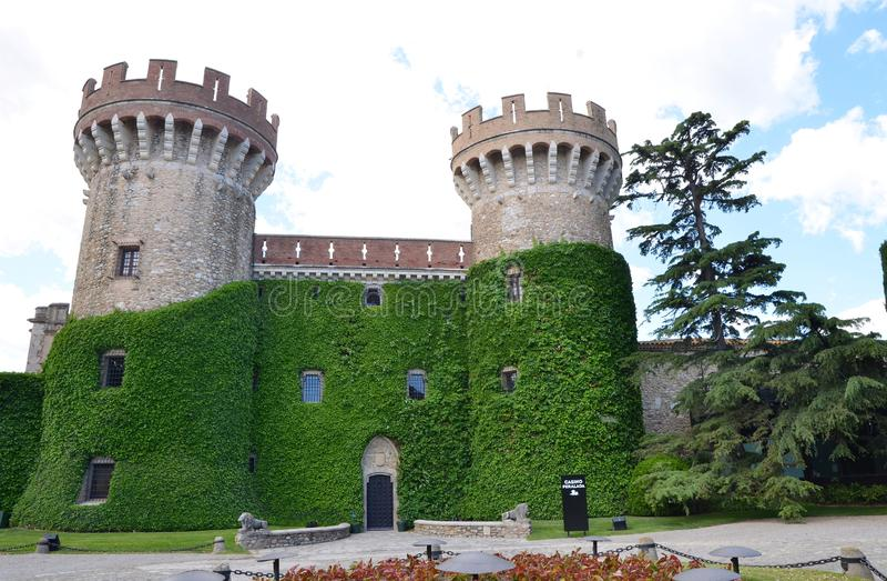 A legendary casino, hotel, restaurant in ancient Pelarada castle in Spain royalty free stock photo