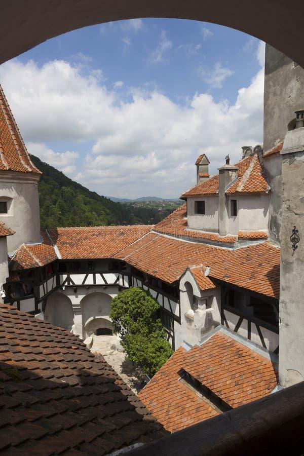 Legendary Castle, Dracula Residence in Transylvania, Romania royalty free stock images
