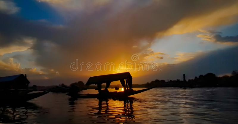 A legendary Dal Lake. There is nothing you have seen if you go to Kashmir and doesn& x27;t see Dak lake and take a shikra ride stock photography