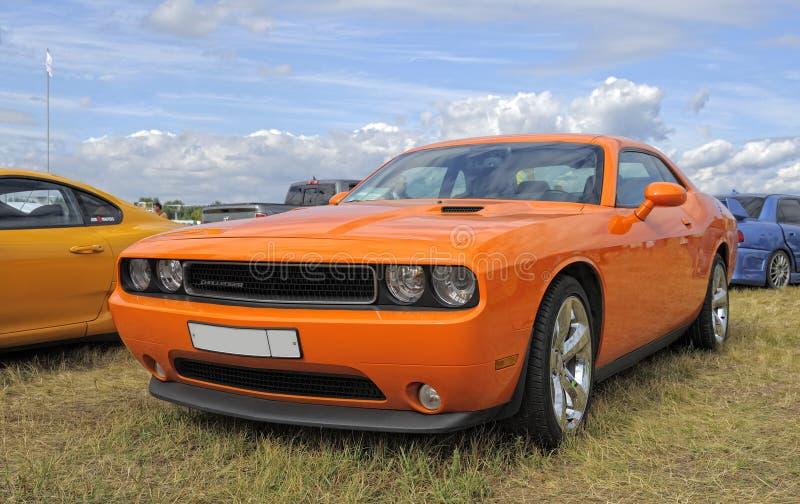 Legendary muscle car Dodge Challenger stock photos