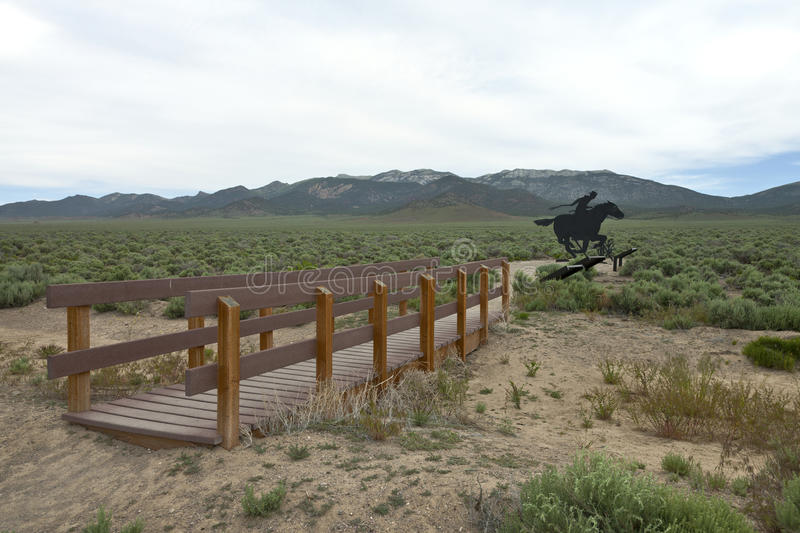 Download The Legendary Pony Express Of The Past. Stock Image - Image: 33118079