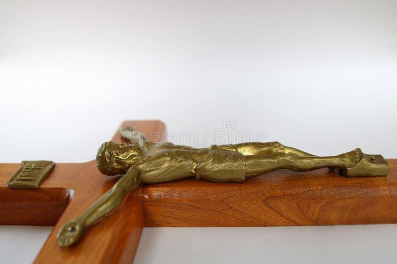 Legende Querebene auf weißer Oberfläche mit goldenem Körper von Jesus Christ stockbilder