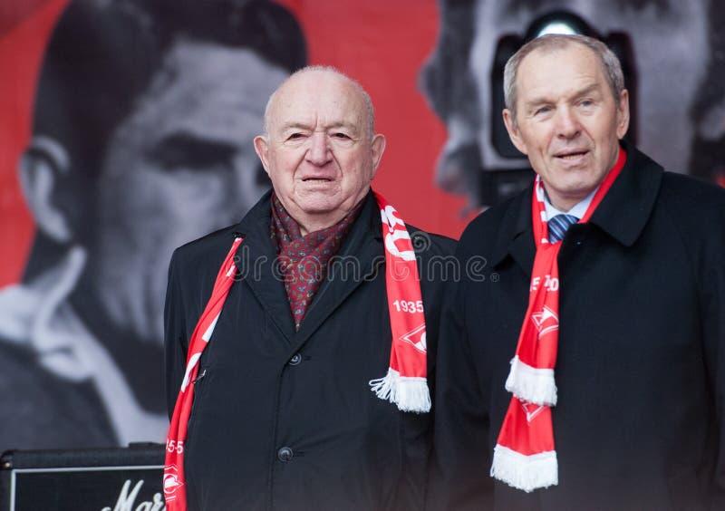 Legende van Spartak-team Nikita Simonyan royalty-vrije stock foto's