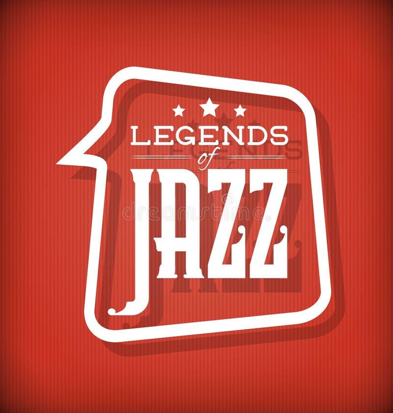 Legenden von Jazz stock abbildung