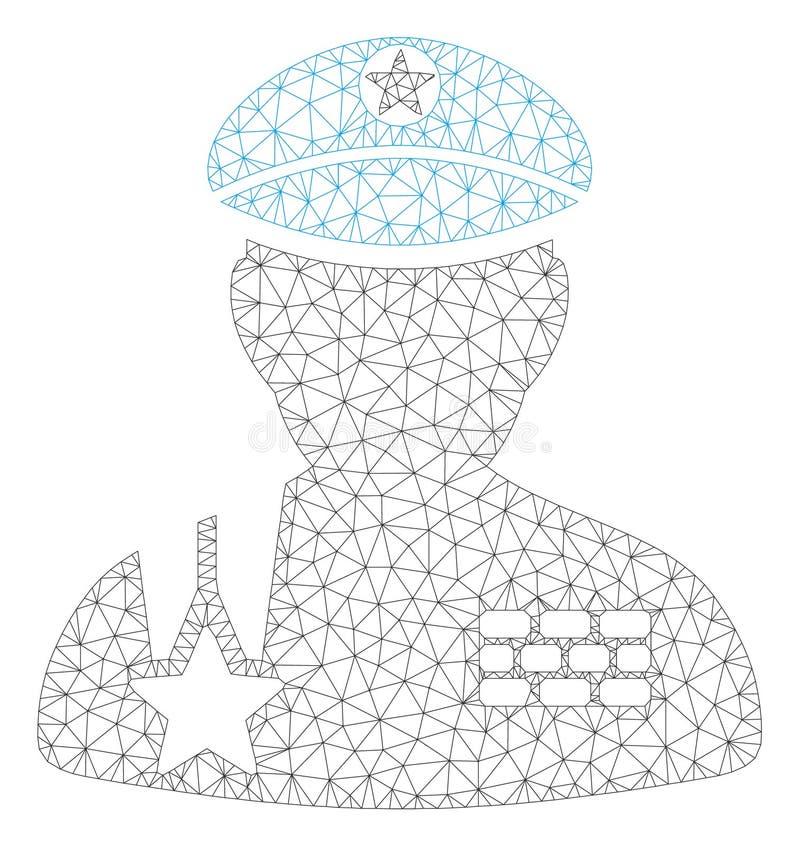 Leger Algemeen Veelhoekig Kader Vectormesh illustration royalty-vrije illustratie