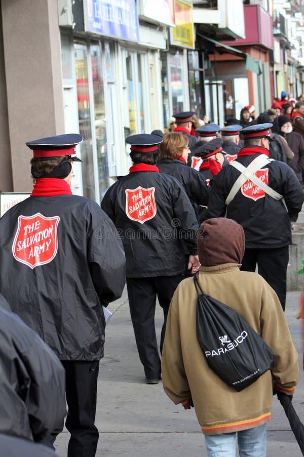 Leger des Heils bij de Parade Toronto 2010 van de Kerstman stock fotografie