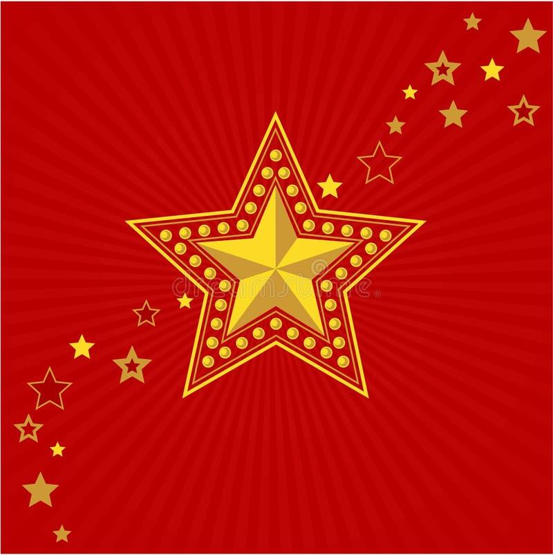 Leger gouden ster. Victory Day vector illustratie