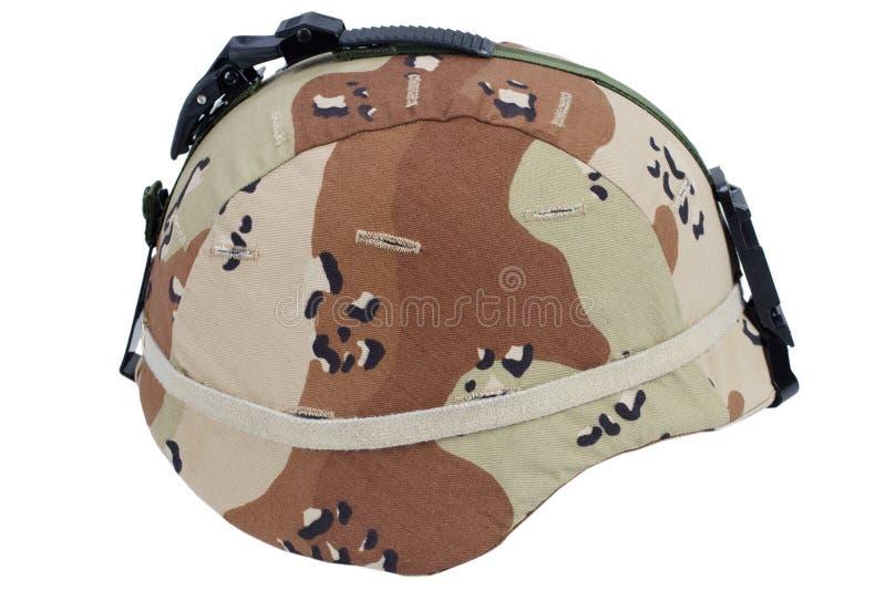 Leger kevlar helm stock foto