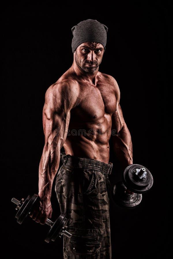 Download Leger, Militaire, Sterke Mens, Gewichten, Het Uitoefenen, Gymnastiek Stock Afbeelding - Afbeelding bestaande uit guerilla, masculinity: 54082295