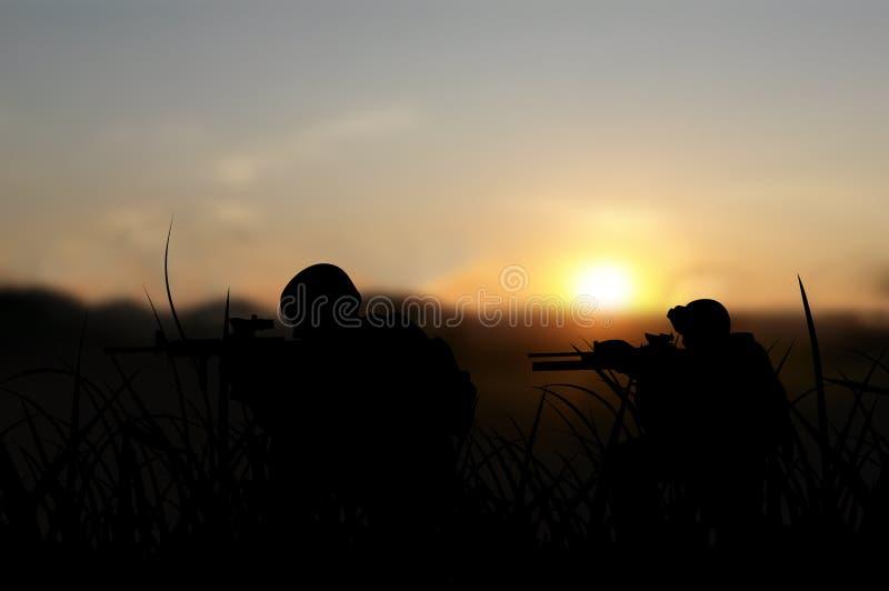 Legermilitairen op opdrachtconcept royalty-vrije stock foto