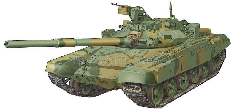 Legertank t-90 royalty-vrije illustratie