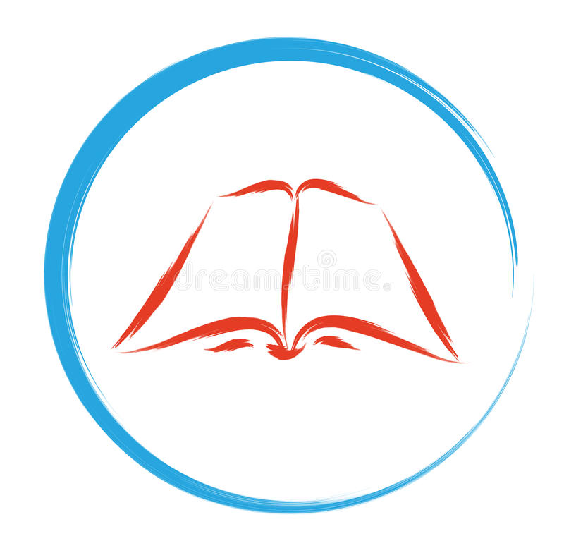 Legga il segno del libro illustrazione vettoriale