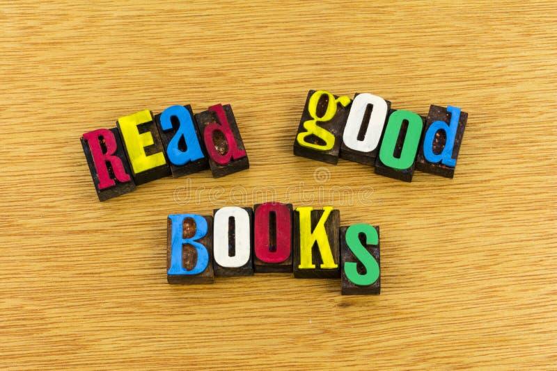 Legga la buona istruzione dei libri immagini stock