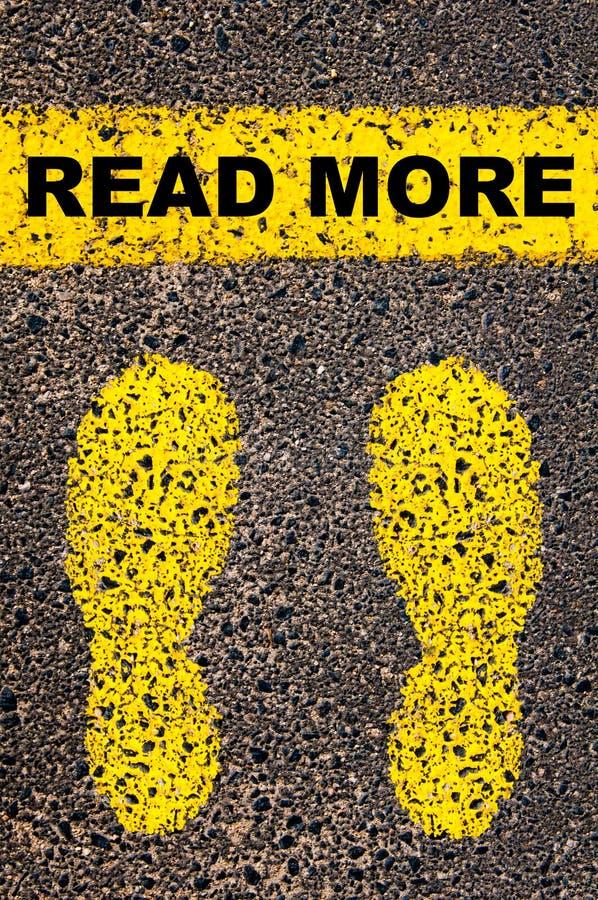 Legga più messaggio Immagine concettuale immagini stock libere da diritti