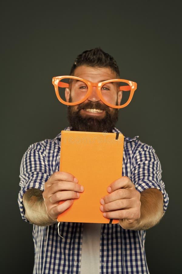 Legga questo libro Senso di umore e comico Storia divertente Lo studio ? divertimento Il libro divertente per si rilassa Spazio d fotografia stock