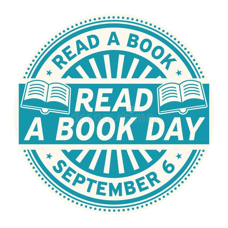 Legga un giorno del libro, il 6 settembre illustrazione di stock