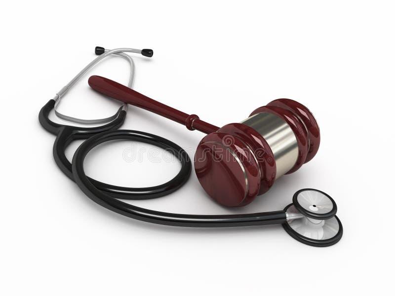 Legge medica illustrazione di stock