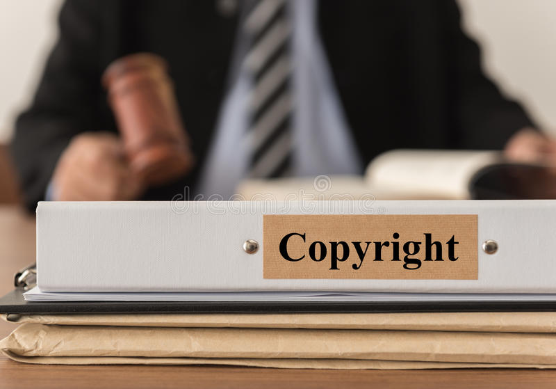 Legge sui diritti di autore fotografia stock libera da diritti
