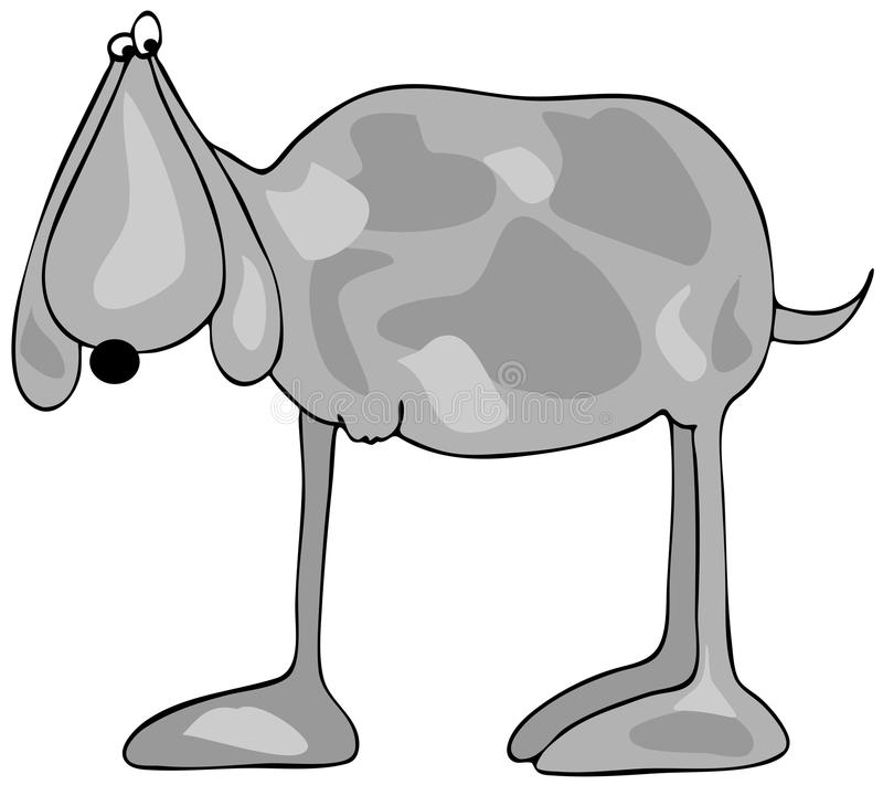 Legged собака 3 иллюстрация штока