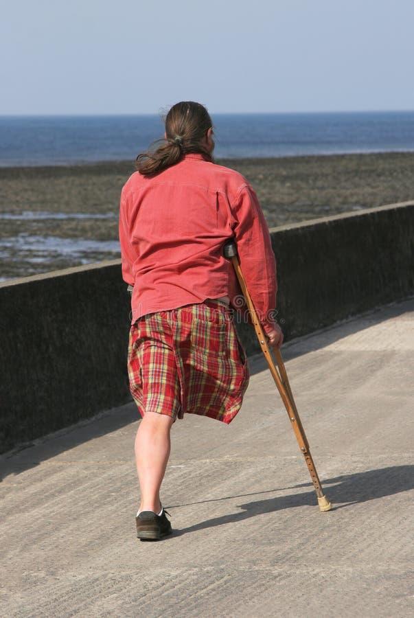 legged человек одно стоковая фотография