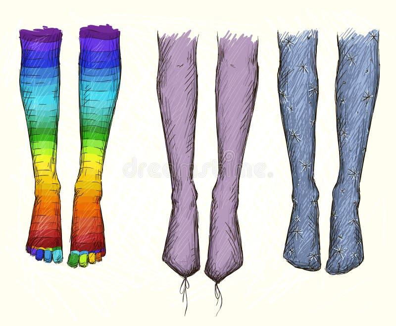 Legging. Manierillustratie. Vectortekening. vector illustratie