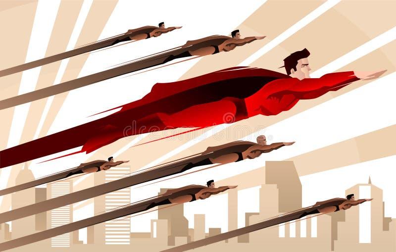 Legião de super-herói ilustração do vetor