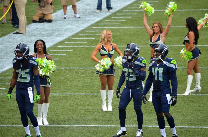 Legião dos Seattle Seahawks de crescimento fotografia de stock
